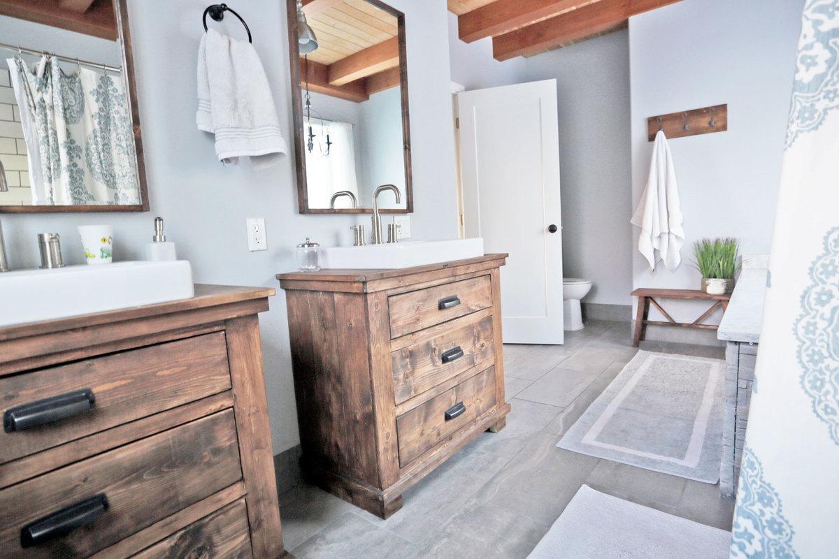 Rustic Modern Farmhouse Bath Tour Sources Ana White