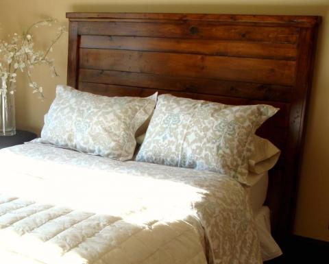 ana white | reclaimed-wood look headboard, king size - diy projects