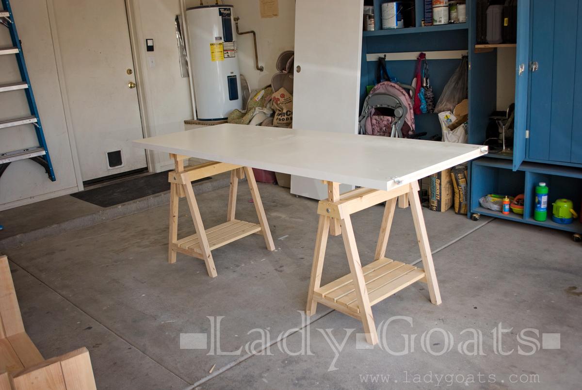 adjustable height sawhorses ana white