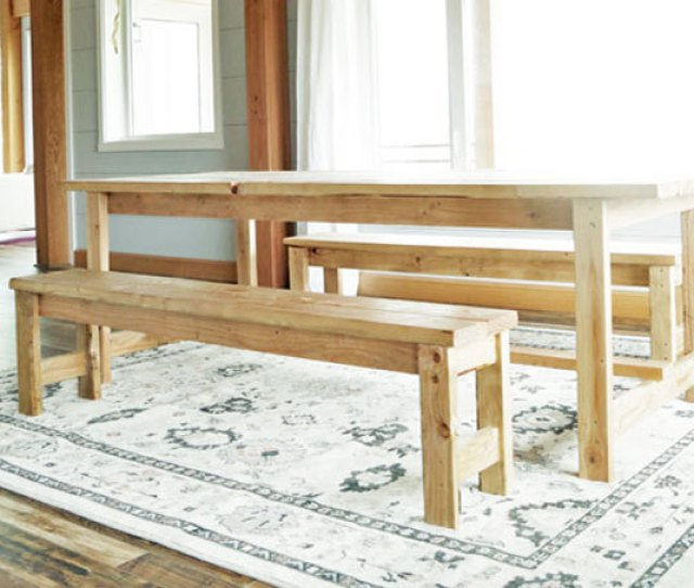 Ana White Beginner Farm Table Benches  In Lumber Diy Projects