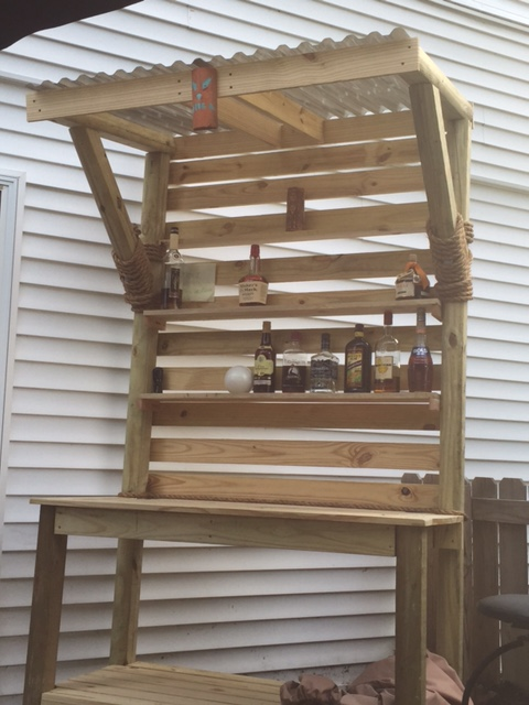 Ana White Tiki Bar From Potting Bench Diy Projects