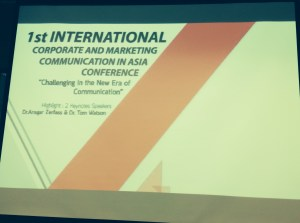 1st International Marketing and Communication in Asia Conference