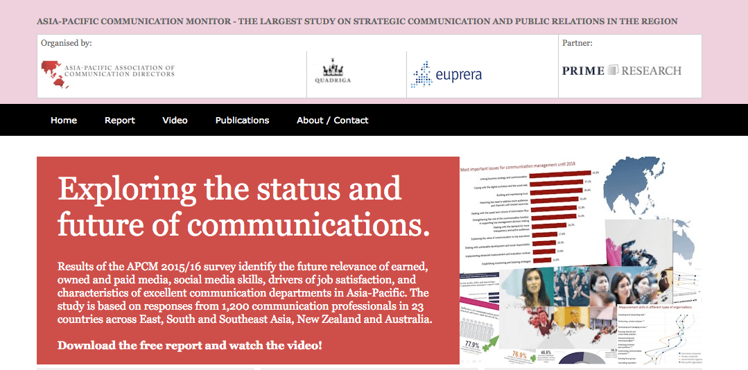 Asia-Pacific Communication Monitor 2015/16