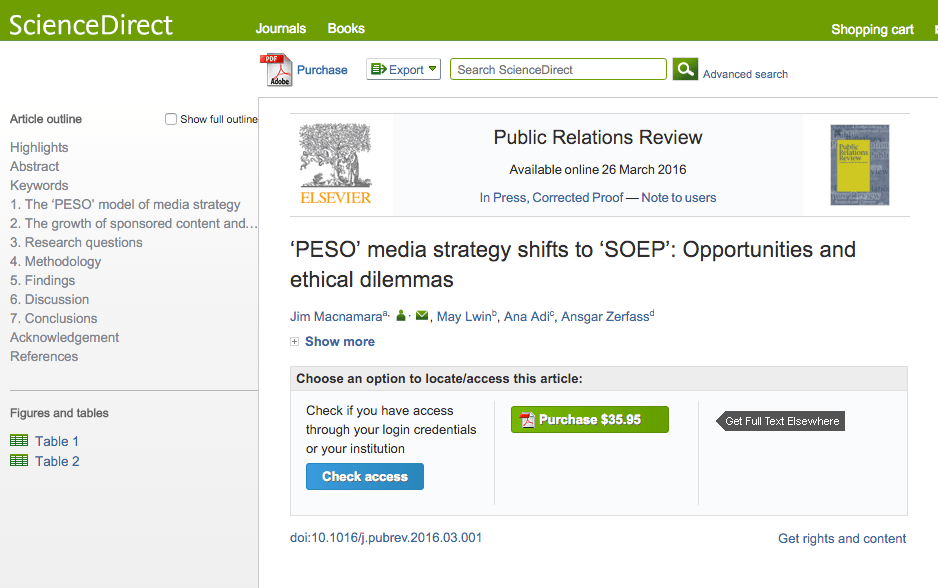 New publication: 'PESO' media strategy shifts to 'SOEP'