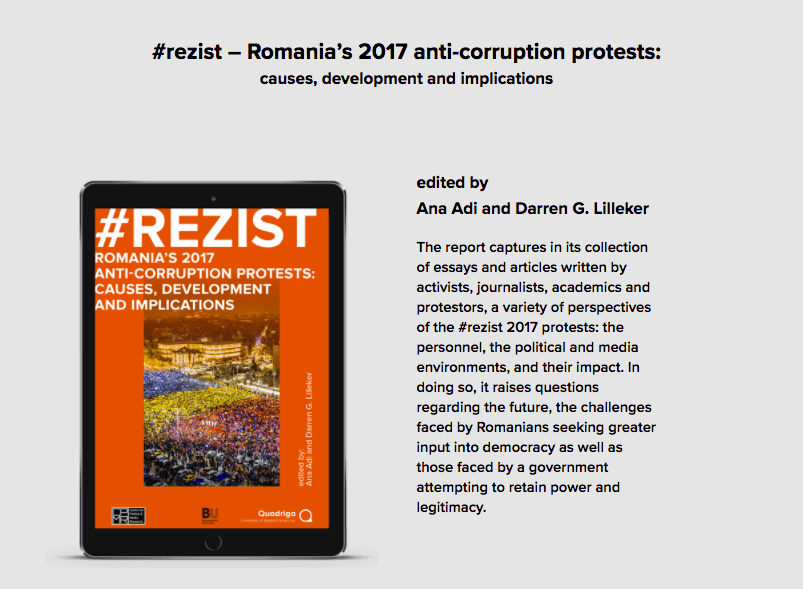 OUT NOW:  #rezist – Romania's 2017 anti-corruption protests