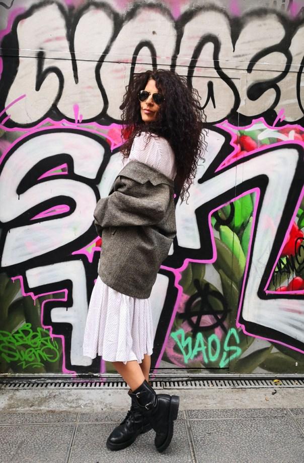 Blog Blazer Vestido Blanco Grafitti