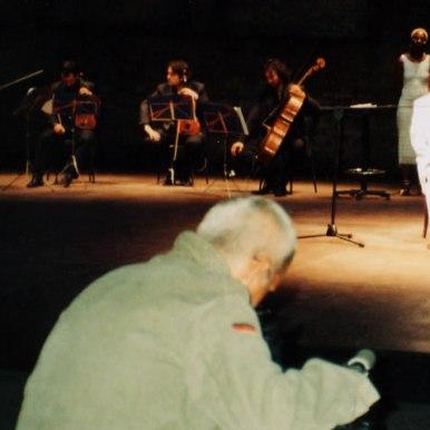 Noaptea poetilor 21 iunie 2005 - Lectura pe scena Teatrului Arsenal din Venetia