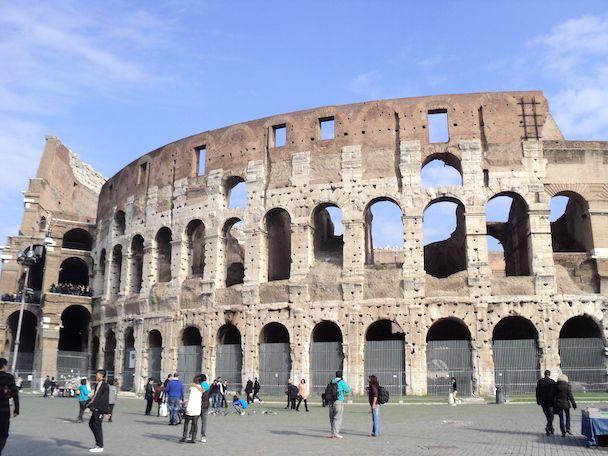 Roma, vistas al coliseo