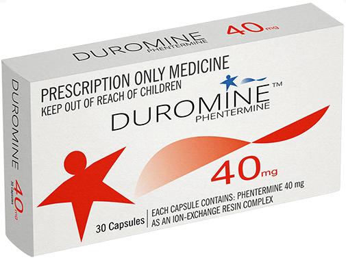 BUY METERMINE 40MG X 30 CAPSULES (DUROMINE/PHENTERMINE) (PHARMACEUTICAL)