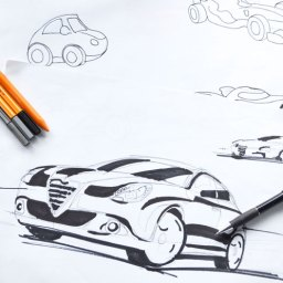 Sketch automovil