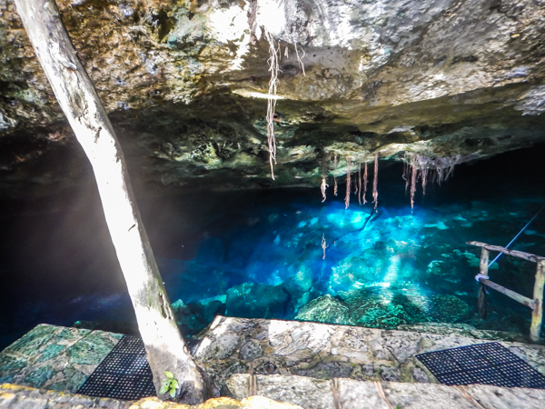 The entrance to Chikin-Ha Cenote, where we started our dive.
