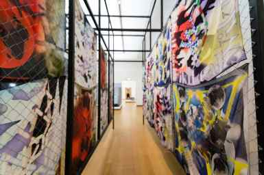 Colourful gallery at Stedelijk Museum, Amsterdam