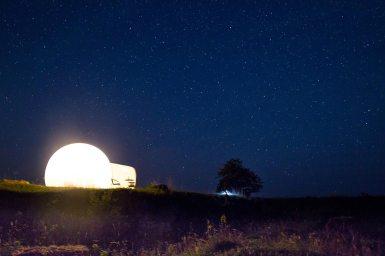 Night sky in Estonia