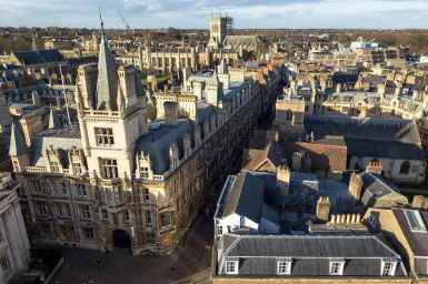 Views at St Mary's Tower, Cambridge
