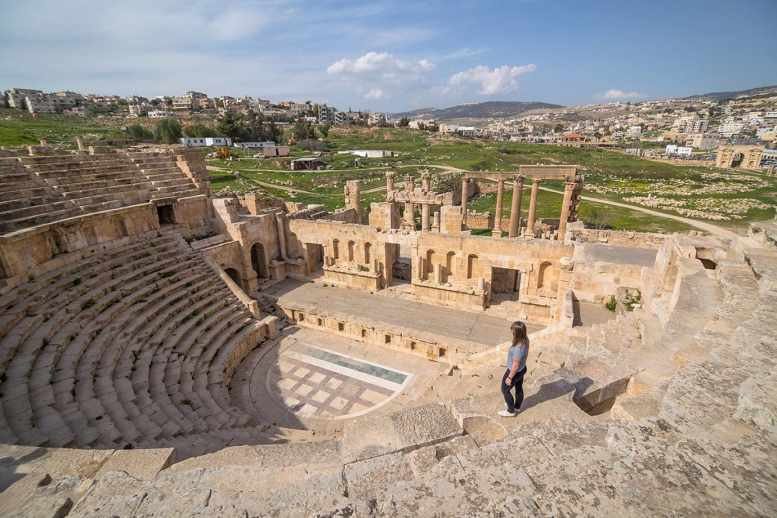 Views of the North Theatre, Jerash, Jordan