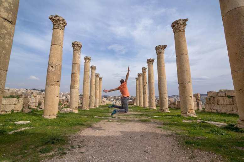 Fun at Jerash, Jordan