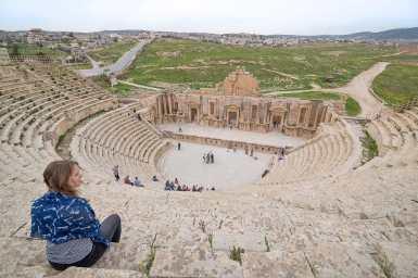 Views of the South Theatre, Jerash, Jordan