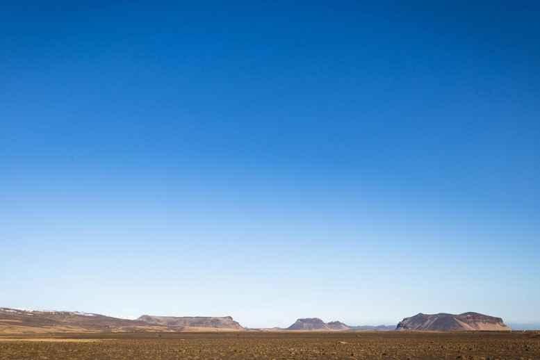 Barren desert, Iceland