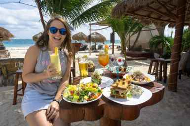Lunch at Unico Beach in Puerto Morelos