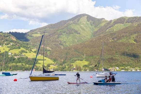 watersports at lake zell