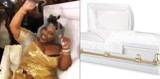 Unbelievable! Bride Arrives At Her Wedding In A Coffin (Video)