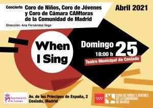 When I Sing @ Teatro Municipal de Coslada