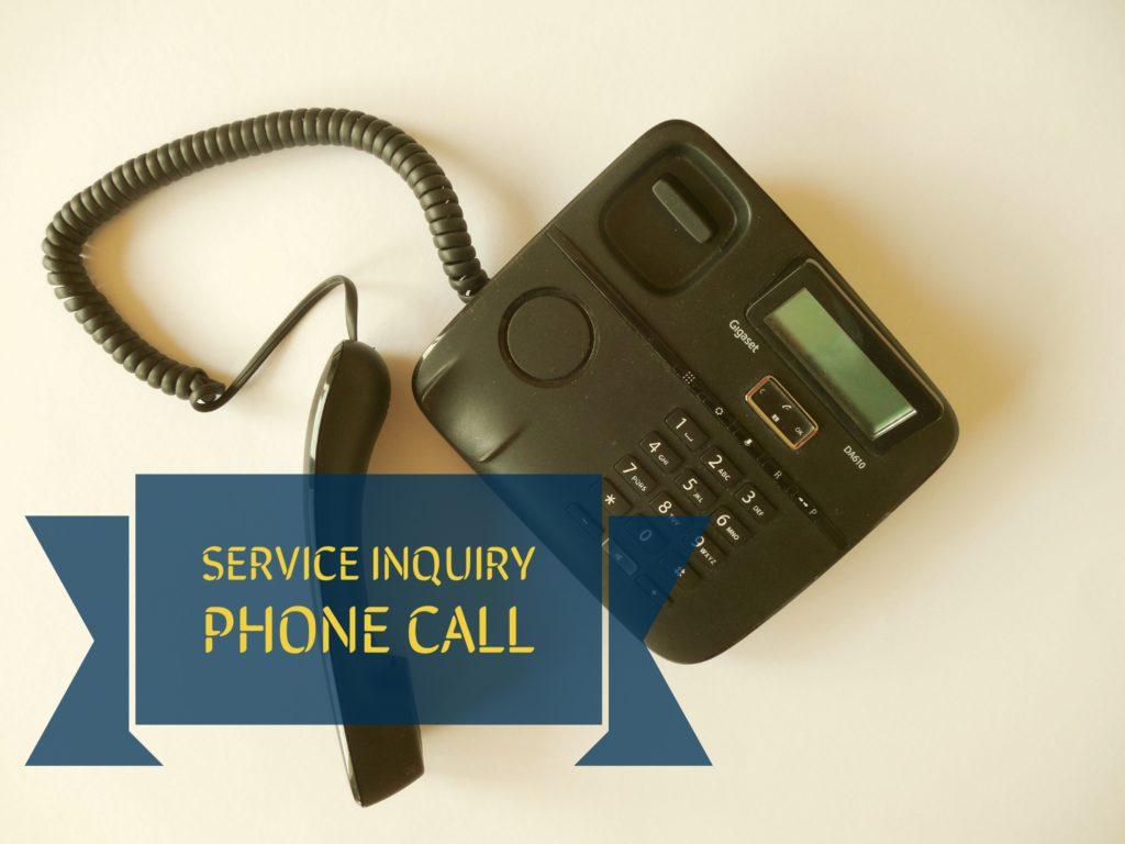 Phone call, service inquiry