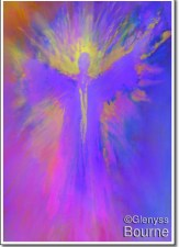 This  is one of my very early Angel Paintings Angel of Expansion and Courage