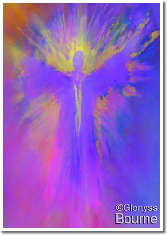Angel of  Expansion and Courage  painting