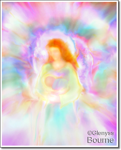 Angel of Divine Love and Protection, Elandra by Glenyss Bourne
