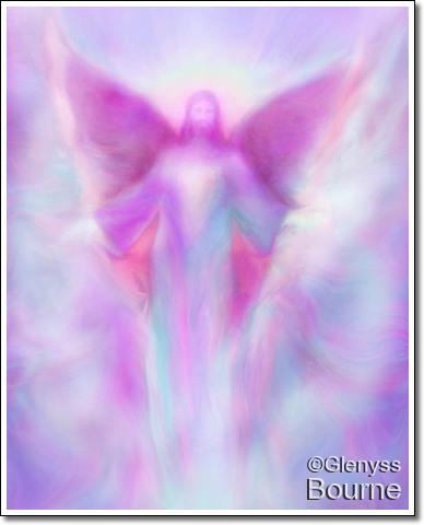 Angel of Transcendance, Archangel Zadkiel painting
