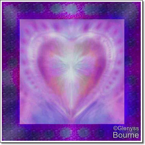 The Sacred Heart of Love by Glenyss bourne