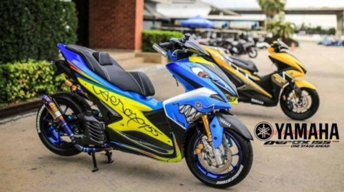 Bagi Anda yang Berjiwa Muda, Modifikasi Yamaha Aerox ala MotoGP Layak Dicoba