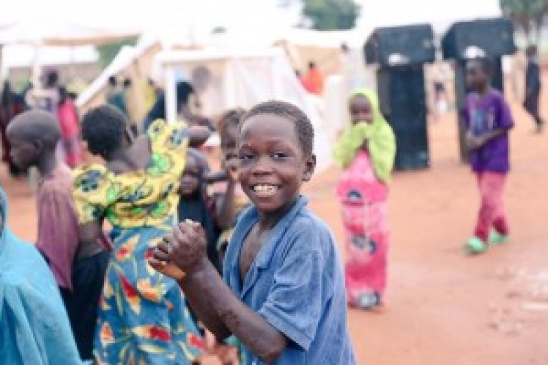 Children dancing in the Yola IDP camp - Anakle