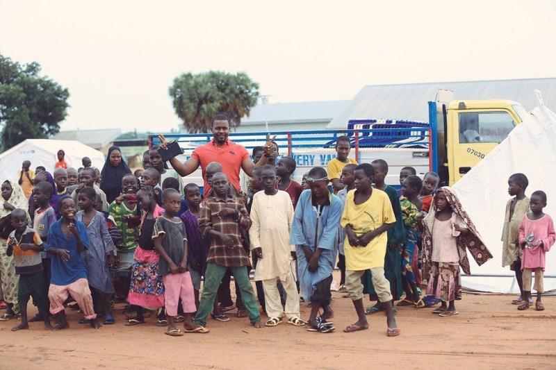 Children dancing in the Yola IDP camp - Anakle