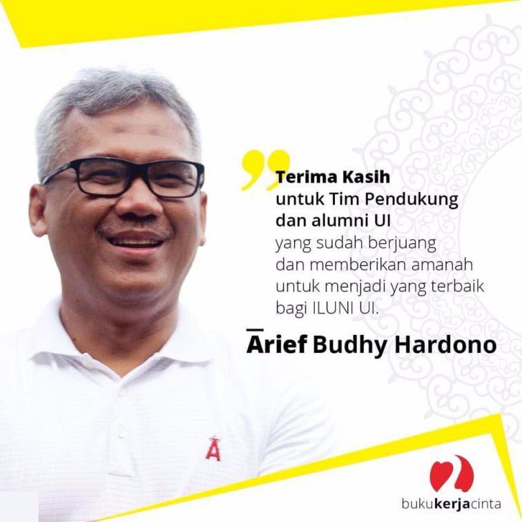 Arief Budhy Hardono  terpilih menjadi Ketua Ikatan Alumni UI  via arief2iluni