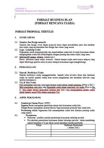 Panduan Membuat Proposal Usaha atau Bisnis - anakUI.com
