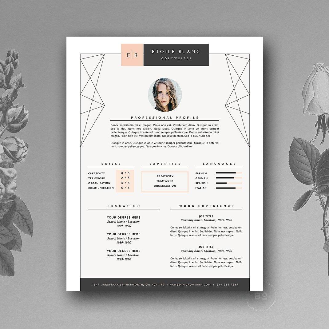 Contoh Desain CV yang Menarik 4