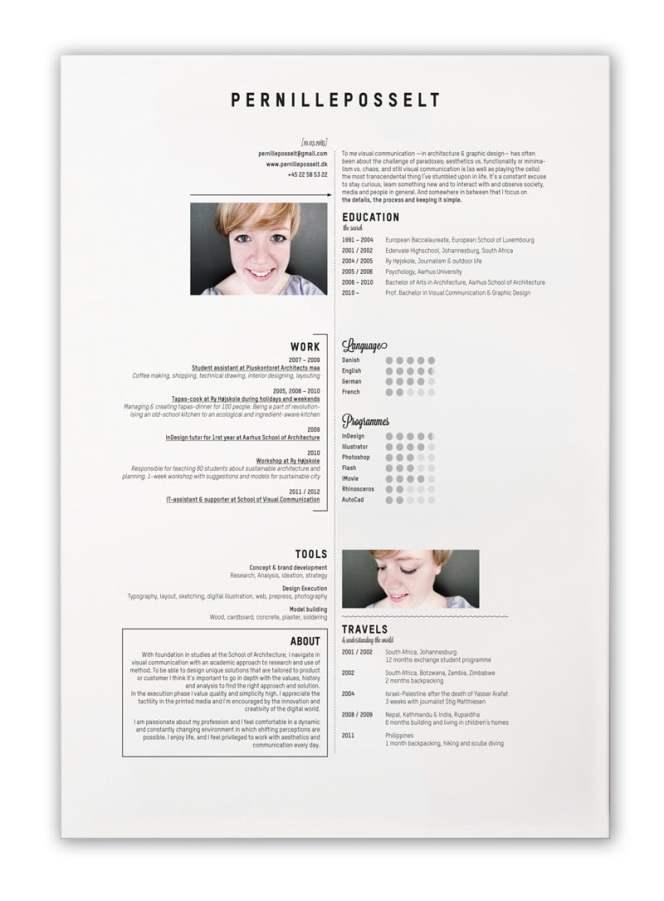 Contoh Desain CV yang Menarik 7