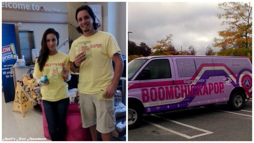 Boomchickapop popcorn truck in Quincy