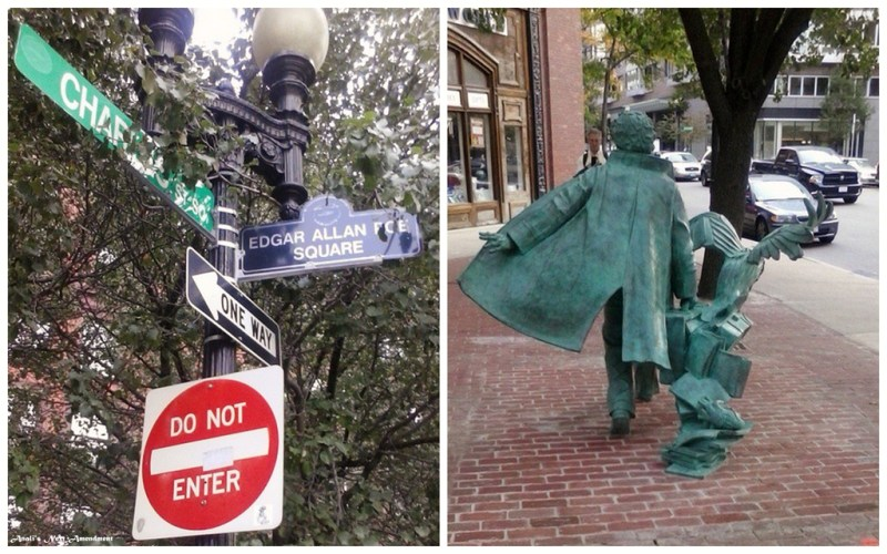 Edgar Allen Poe Square in Boston