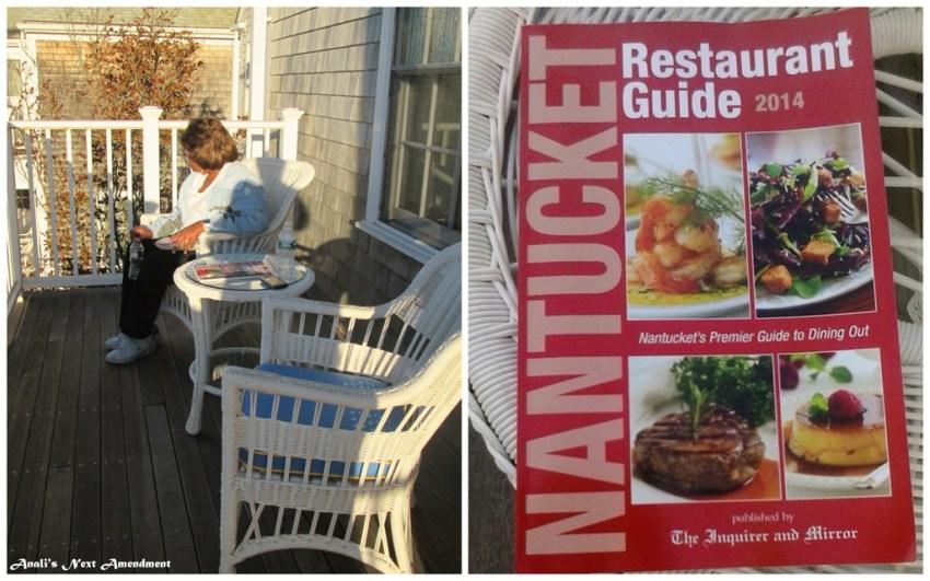mom on balcony + restaurant guide