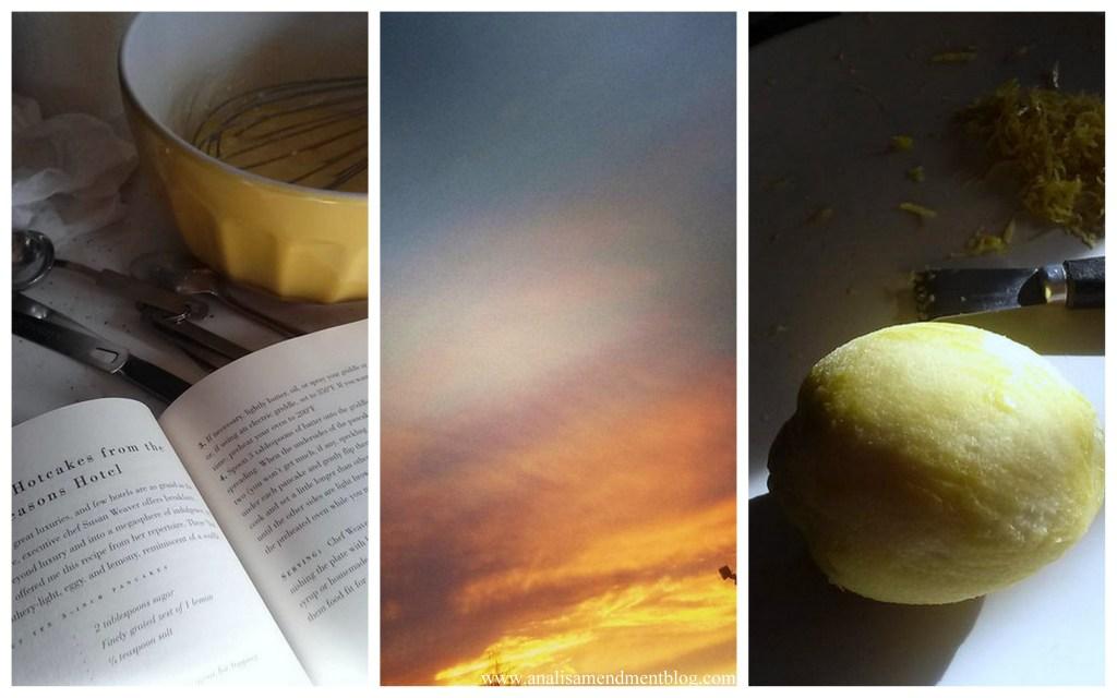 lemon sunset pancakes