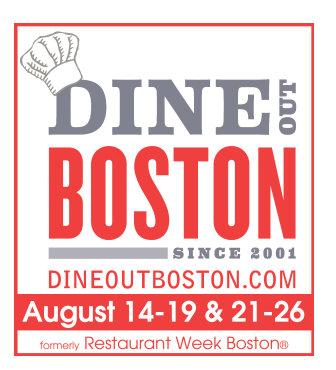 Logo for Dine out Boston aka Restaurant Week Boston.