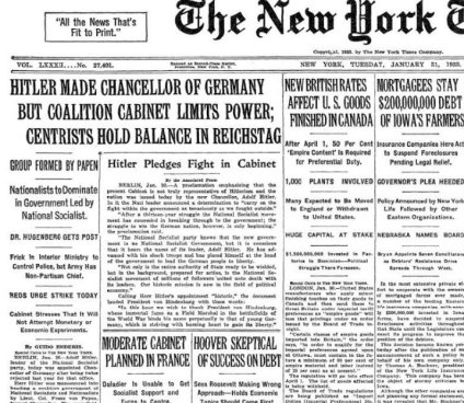New York Times 1933