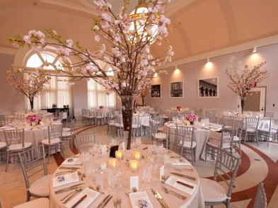 Color photo of wedding venue at Boston Public Library.