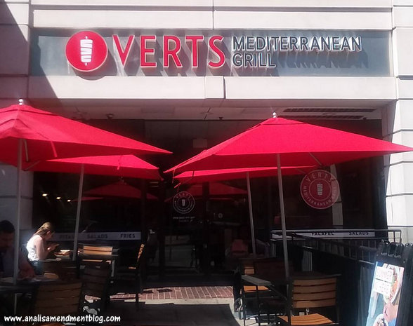 Outdoor seating for lunch outside at VERTS.