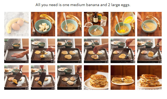 2-ingredient banana pancake breakfast.
