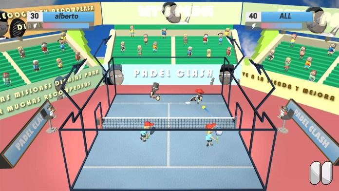 Captura del nuevo juego padel clash