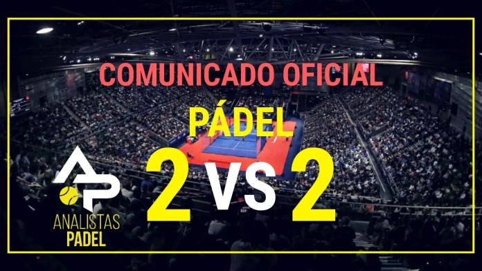 Comunicado Oficial BOE Pádel 2 vs 2